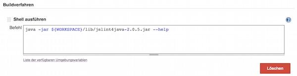 Jenkins JSLint Test