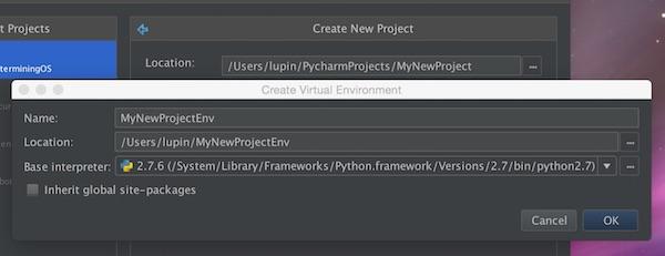 PyCharm Virtualenv Setup