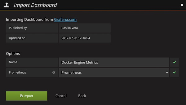 Docker Engine Metrics Dashboard