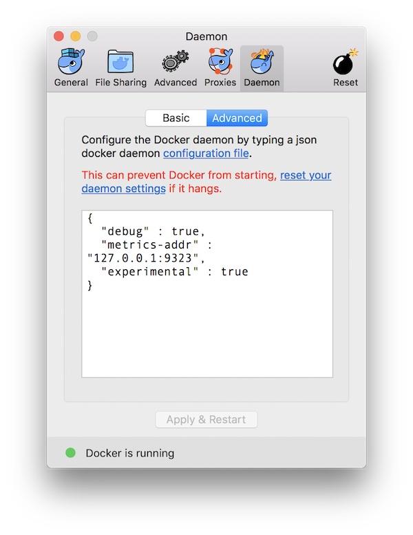 macOS Docker Metrics