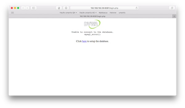 DVWA inside Browser
