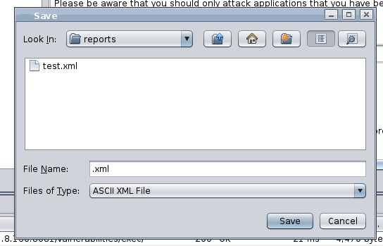Save ZAP XML report