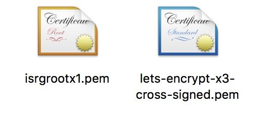letsencrypt  CA certificates