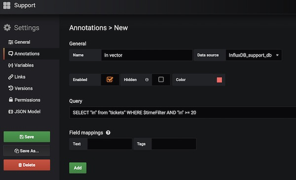 Grafana Annotations Support