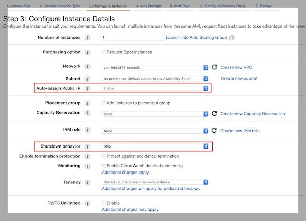 AWS EC2 instance details