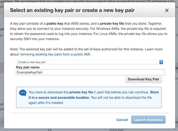 AWS EC2 instance key pair