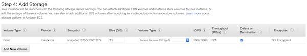 AWS EC2 instance storage
