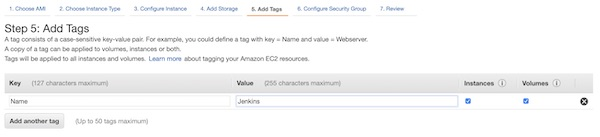 AWS EC2 instance tags
