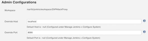 ZAP Admin Configuration