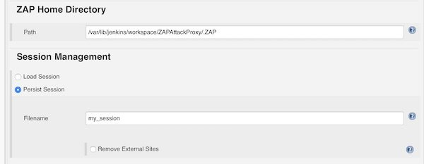 ZAP Home Directory and Session Management