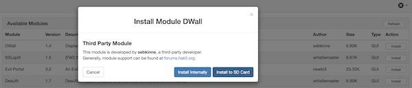 DWall installation on Wifi Pineapple